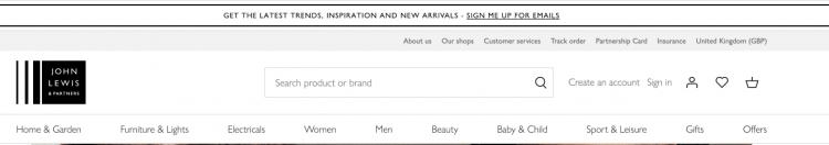 John Lewis eCommerce Success | Website Review