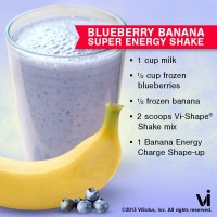 ViSalus Shakes - Blueberry Banana Super Energy Vi-Shake Recipe