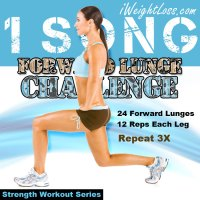 1 Song Forward Lunge Exercise Challenge