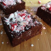 Dark Chocolate Peppermint Protein Brownies