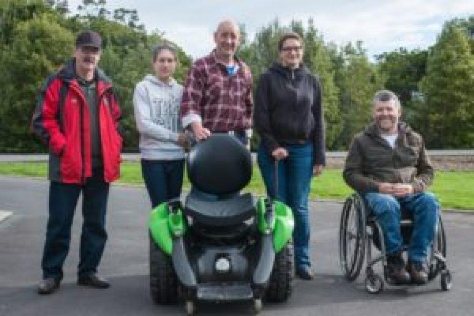 De gauche à droite : Norman, Erine, Kevin, moi et Marcus.