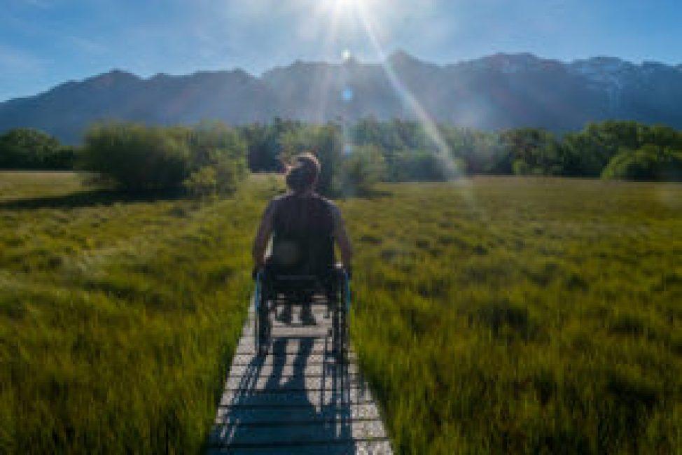 A very enjoyable walk in wheelchair.
