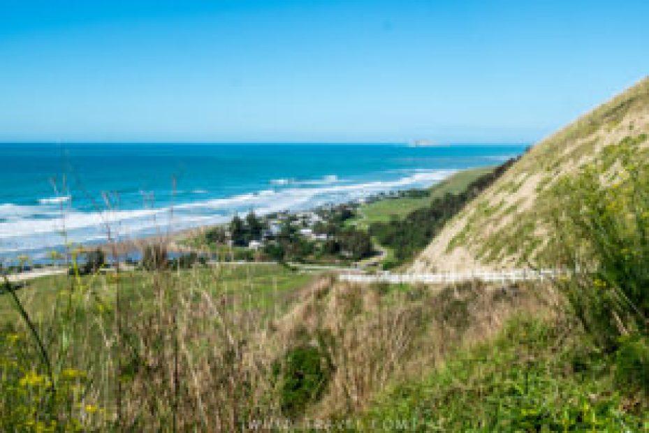 """La vue depuis """"Ocean Beach Lookout""""."""