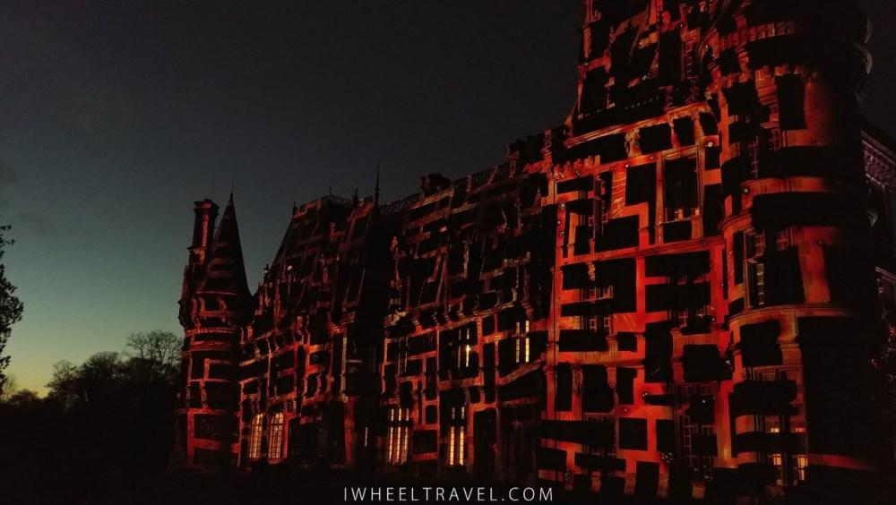 A partir de 18h le château s'illumine.