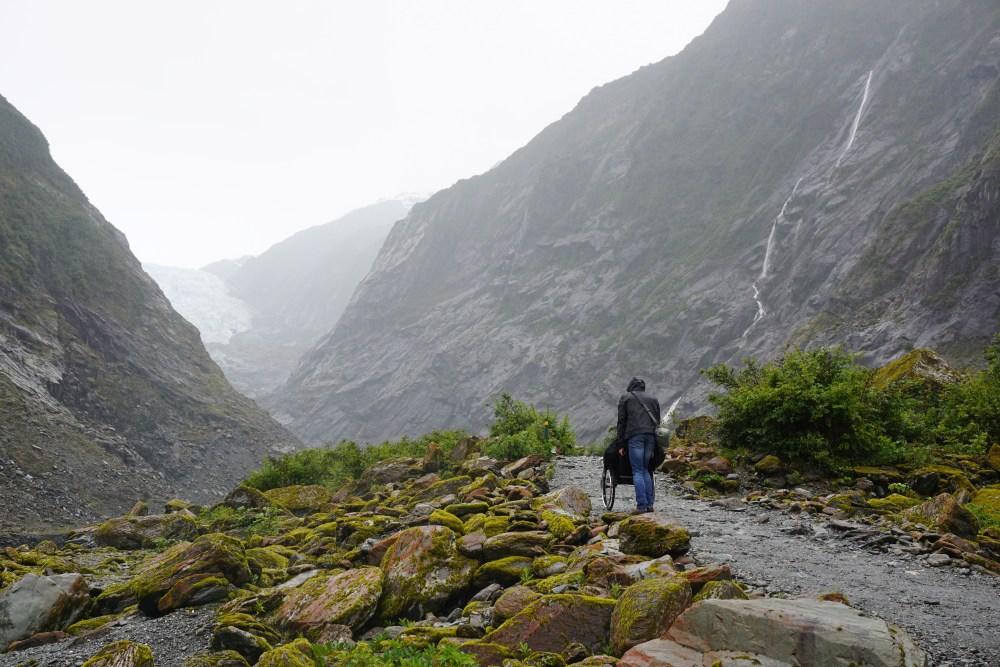 A la conquête du glacier Franz Josef.
