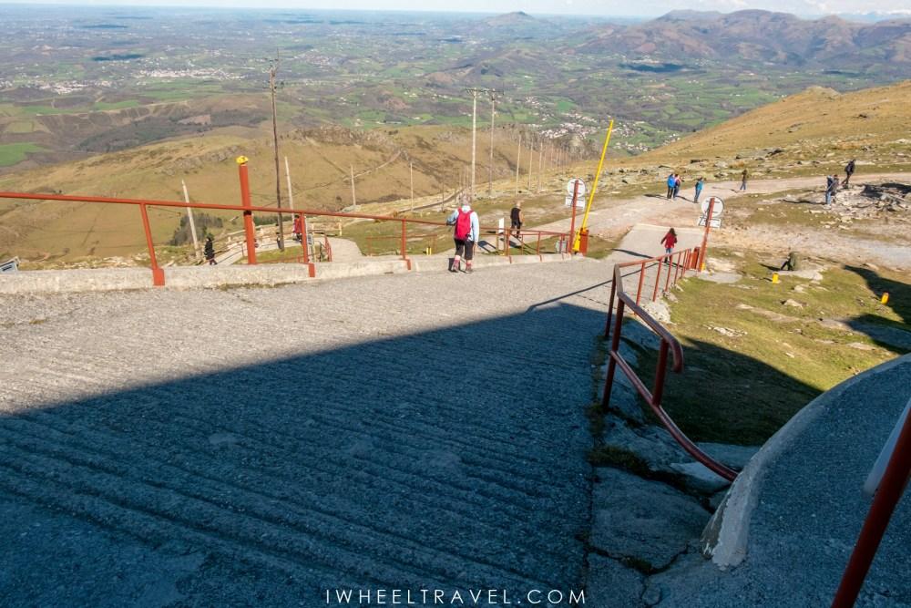 La deuxième montée vue d'en haut, prise en photo par Franck.