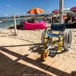 fauteuil plage Torre guaceto pouilles