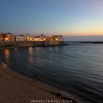 Coucher de soleil plage Gallipoli.