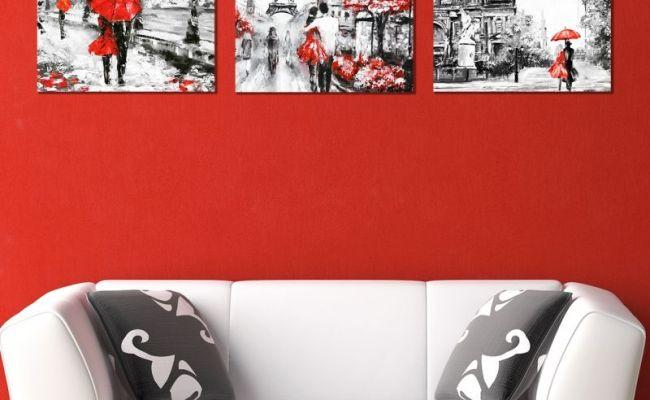Online Modern Wall Art Decoration Of 3 Pieces London Paris