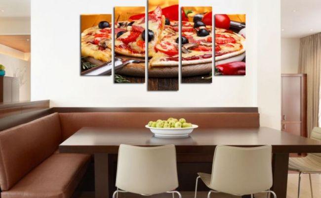 Decorations For Restaurants Wall Art Decoration Set Of 5