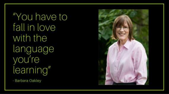 barbara oakley love the language you're learning