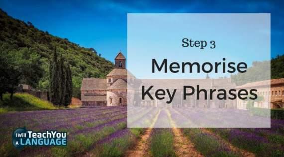 memorise key french phrases
