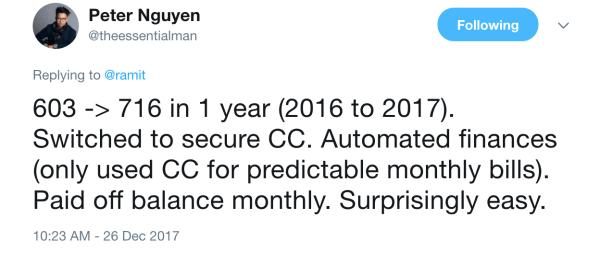 Improve your credit score - Tweet