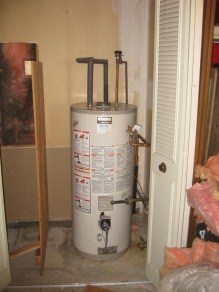 Hot water tank before insulating
