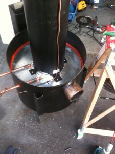 Build a rocket stove for home heating  IWillTryorg