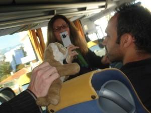 Bus blogging