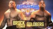 Goldberg vs Brock Lesnar wrestlemania 33