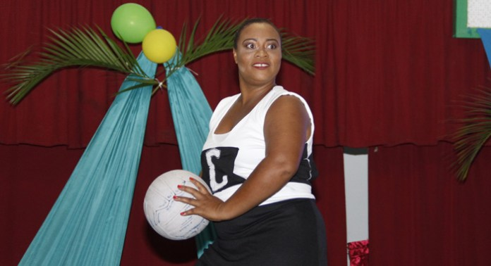 Leisa Baptiste's sports wear presentation. (IWN photo)