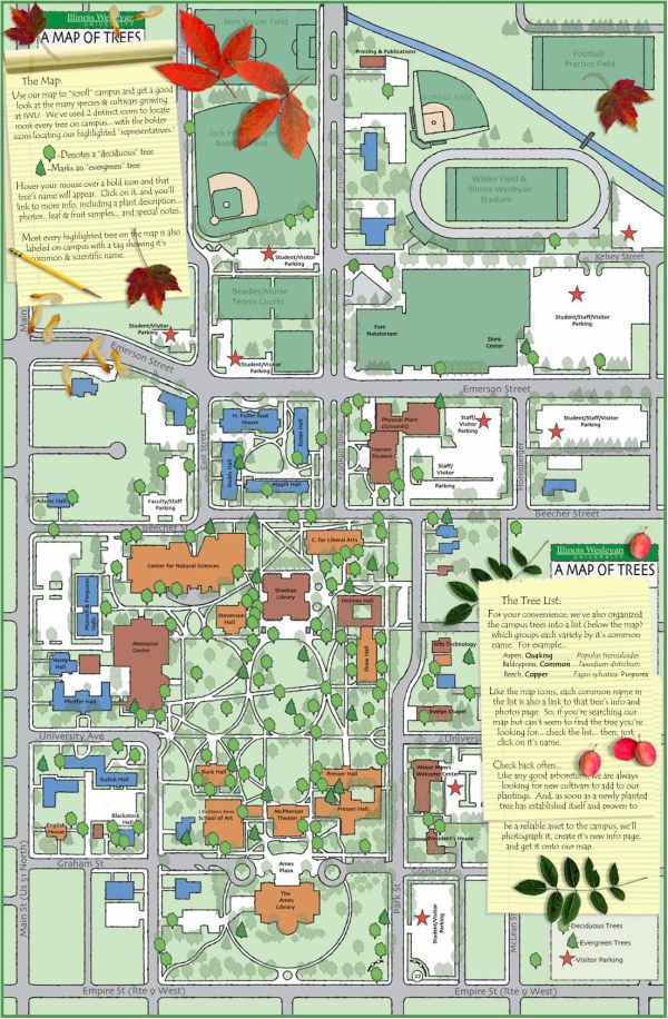 Millikin University Campus Map.Illinois Wesleyan Map Exploring Mars