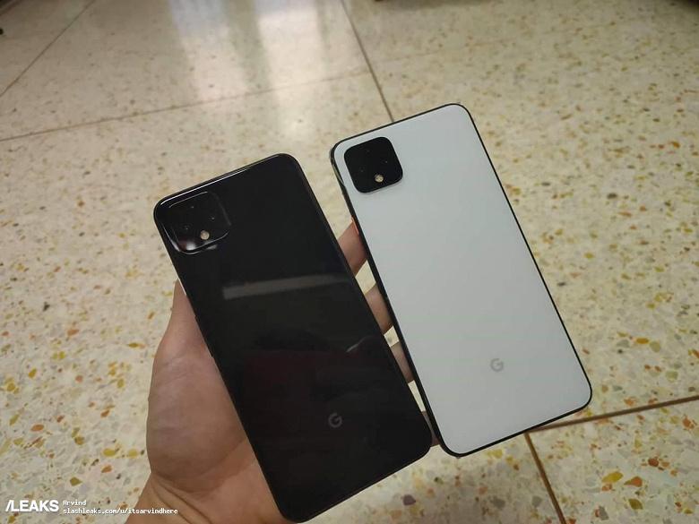 Черный и белый Google Pixel 4 XL можно легко спутать
