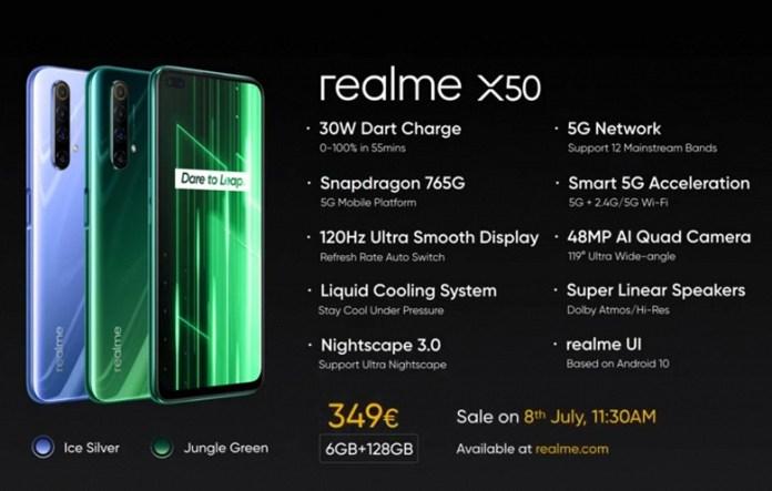 120 Гц и урезанные камеры. Стартовали продажи Realme X50 5G в Европе