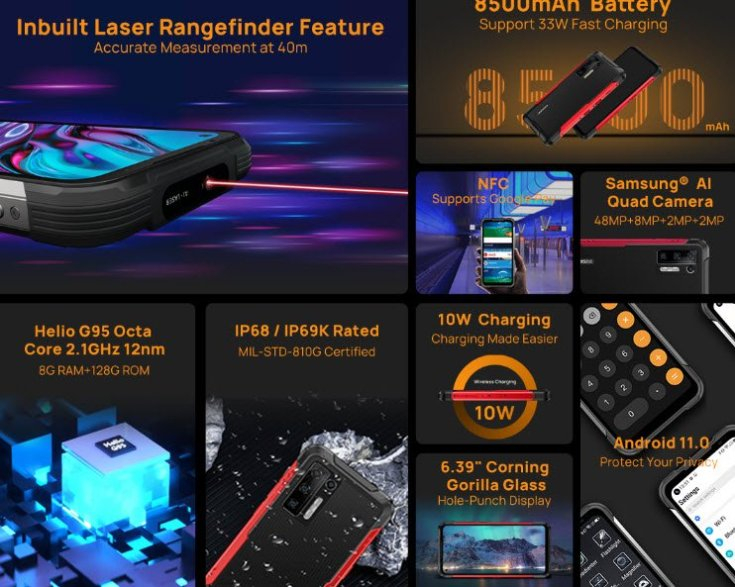The world's first indestructible smartphone with a 40-meter laser rangefinder Doogee S97 Pro will be available at a discount to the first buyers