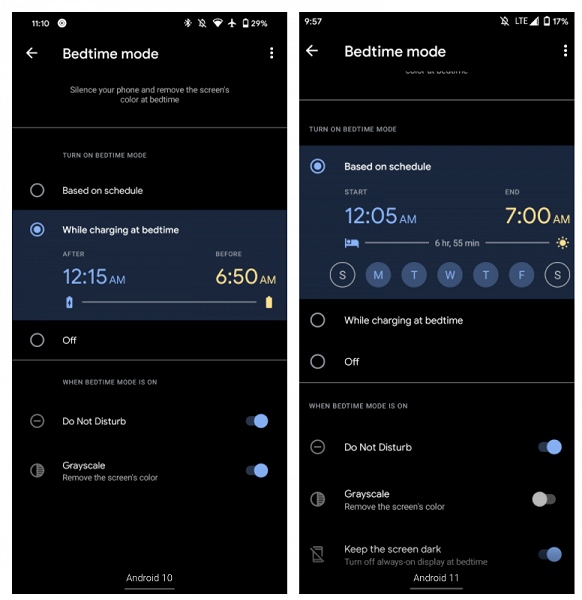 """Another useful feature of Android 11: Smartphones can turn off the """"always-on display"""" at night"""