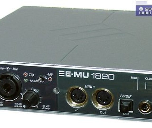 We Received An E Mu 1820 Modification Through Official Channels For Testing It Is Probably Suitable For The Media But Not Very Good In Terms Of Recording