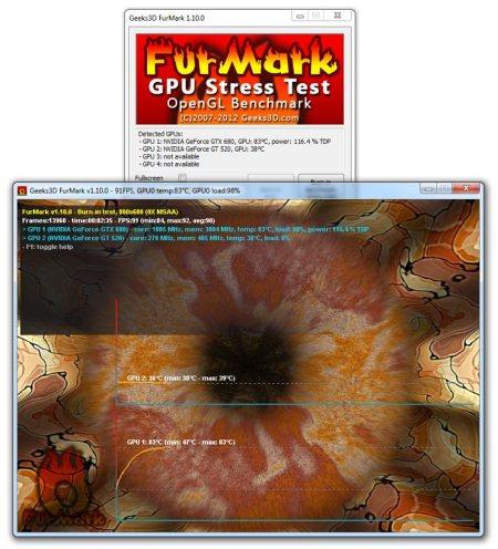 Интерфейс FurMark OpenGL Benchmark