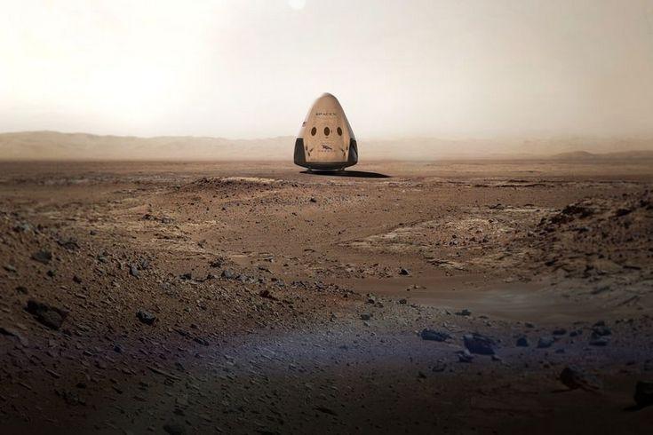 Космический корабль SpaceX Red Dragon отправится к Марсу уже в 2018 году