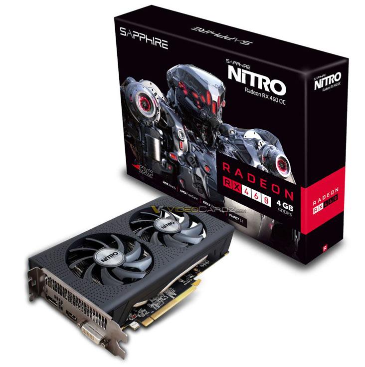 Внешне RX 460 Nitro напоминает модели RX 470 Nitro и RX 480 Nitro
