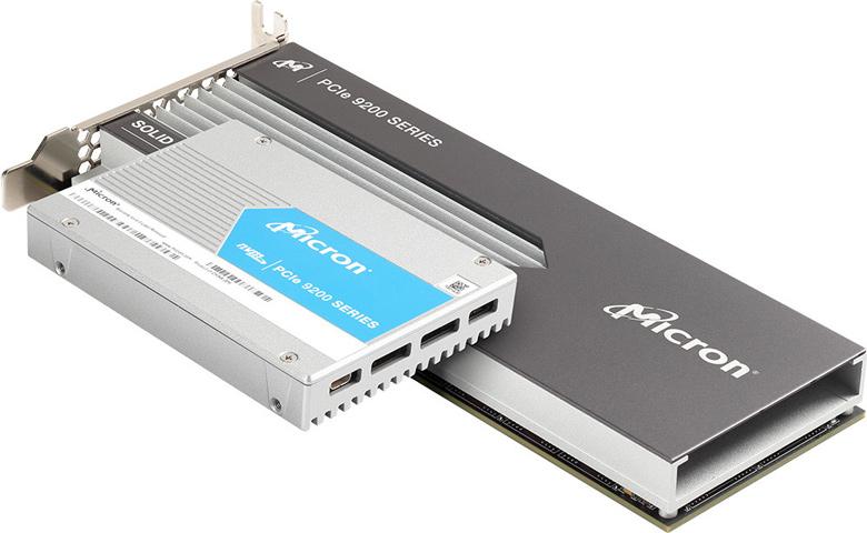 Скорость последовательного чтения SSD Micron 9200 достигает 5,5 ГБ/с, последовательной записи — 3,5 ГБ/с