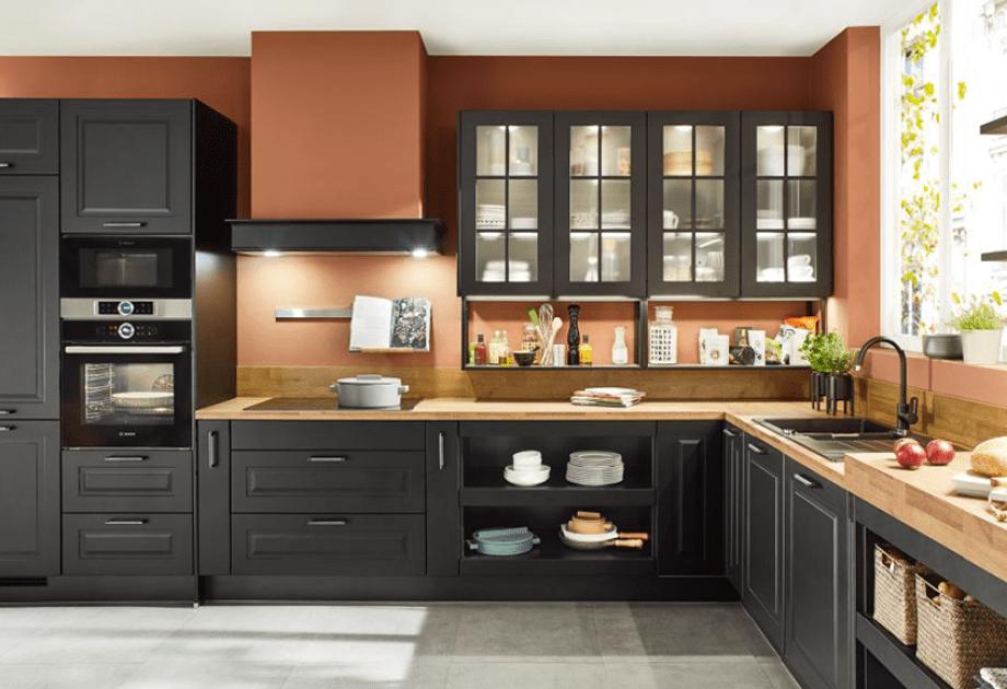article cuisine noire et bois 3 idees