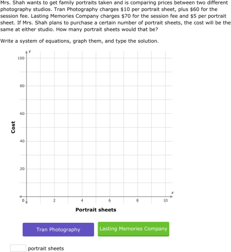 IXL Solve a system of equations by graphing word