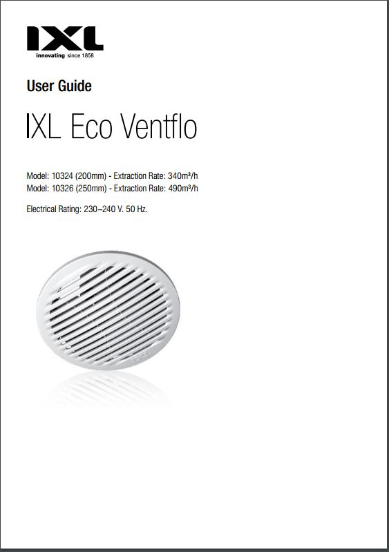 Eco Ventflo 200 Exhaust Fan with Draught Shutters