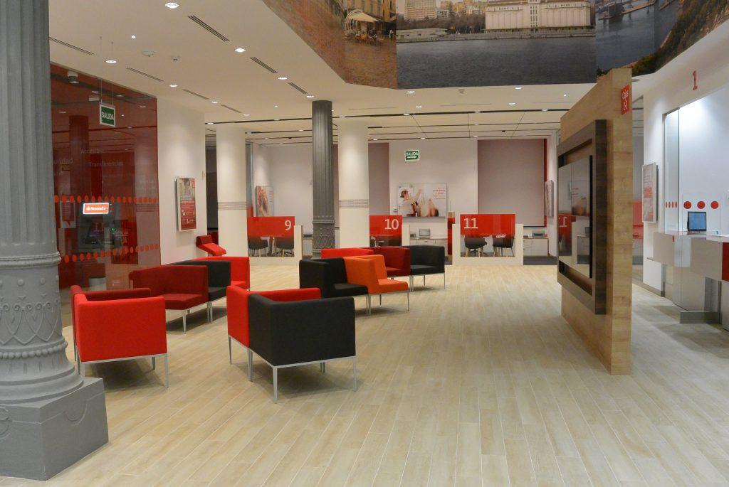 obra oficina Banco Santander