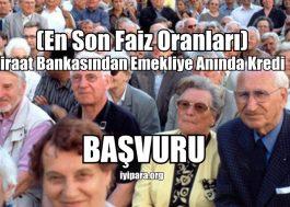 Ziraat Bankasından Emekliye Anında Kredi (En Son Faiz Oranları)