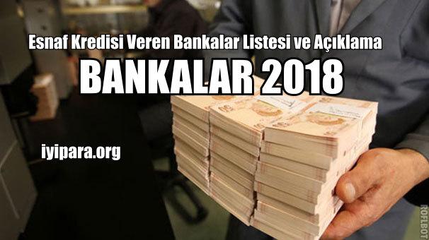 Esnaf Kredisi Veren Bankalar Listesi ve Açıklama (2019)