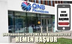 QNB Finansbank 5030 SMS Kredi Başvurusu 2019