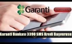 Garanti Bankası 3390 SMS Kredi Başvurusu
