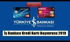 İş Bankası Kredi Kartı Başvurusu 2019 (SMS İle Başvuru)