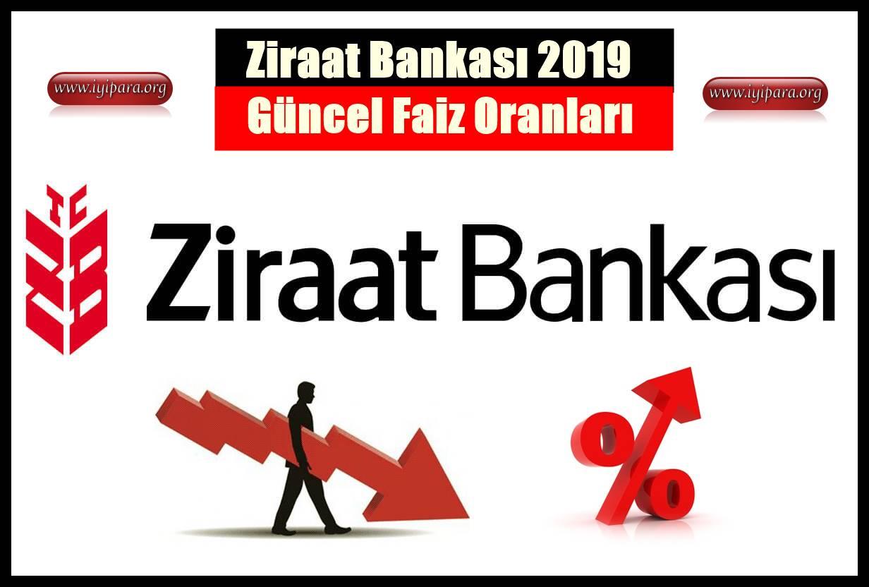 Ziraat Bankası Güncel Kredi Faiz Oranları ve Başvuru 2019