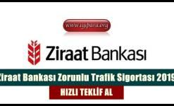 Ziraat Bankası Zorunlu Trafik Sigortası 2019 (Teklif Al)