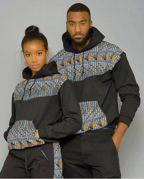 African couple wear