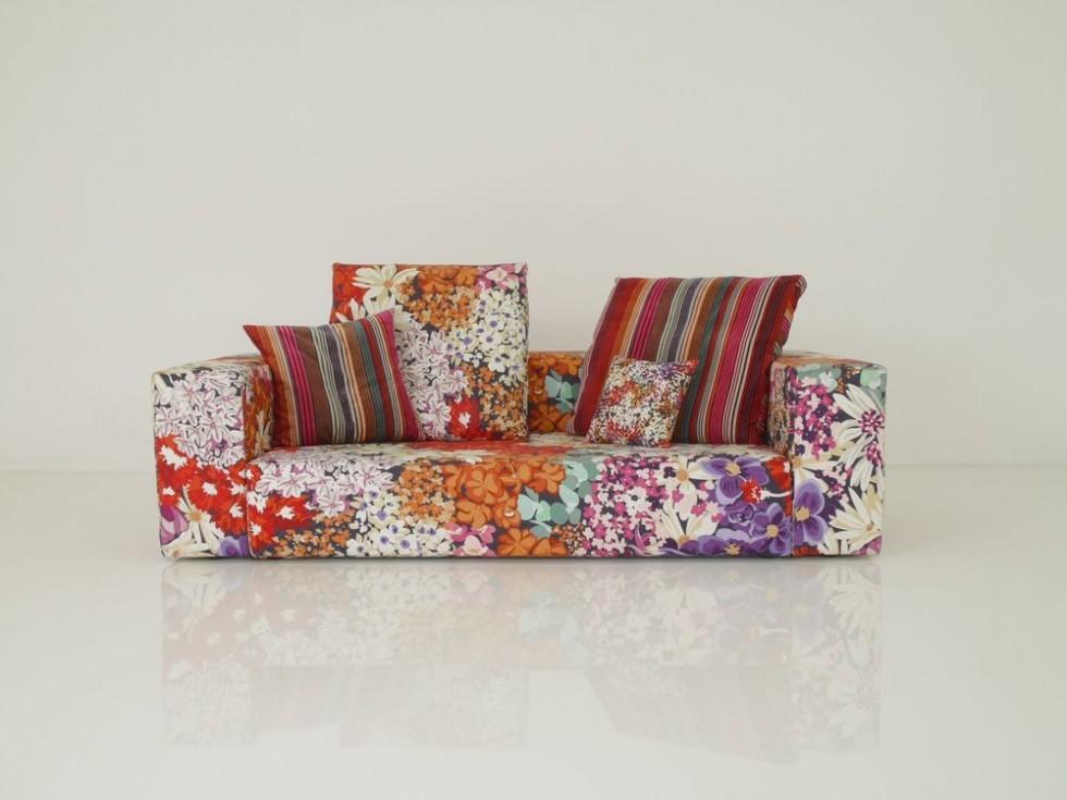 MISSONI HOME NAP Lounge Sofa im wunderschnen floralen