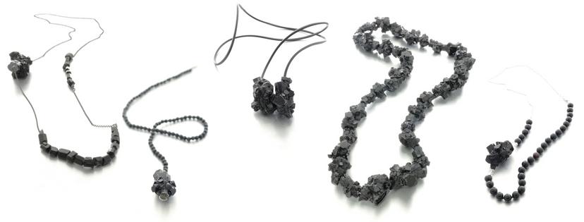 Izabella Petrut art jewelry black resin