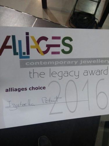 jewelry exhibition, alliages choice award 2016 at joya barcelona for art jewelry