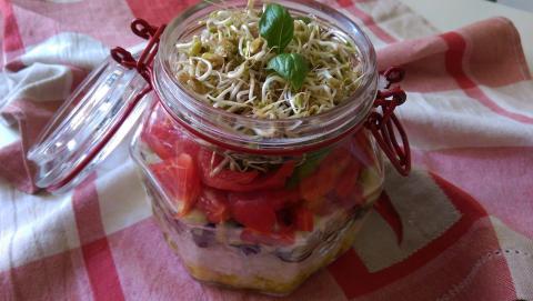 Recette N°95 - Salade niçoise en bocal - Crédit photo izart.fr