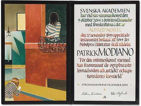Patrick Modiano Nobel Diploması