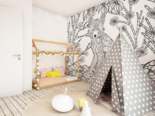 papier peint chambre d enfant original